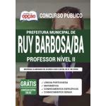 Apostila Prefeitura de Ruy Barbosa - BA 2020 - Professor Nível II