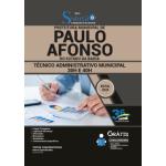 Apostila Prefeitura de Paulo Afonso - BA 2020 - Técnico Administrativo Municipal 30H e 40H