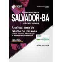 Apostila Câmara Municipal de Salvador - BA 2017 - Analista: Área de Gestão de Pessoas