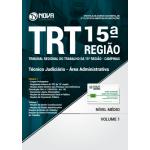 Apostila TRT 15ª Região Campinas 2018 - Técnico Judiciário - Área Administrativa